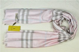 BURBERRY Scarf Wool Cashmere Pink 180cm - 70cm - $99.00