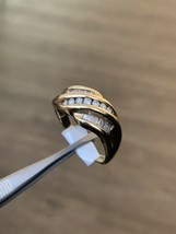 18k Yellow Gold Hallmarked Diamond Statement Ring  Size T BHS Men's Ring - $1,095.86