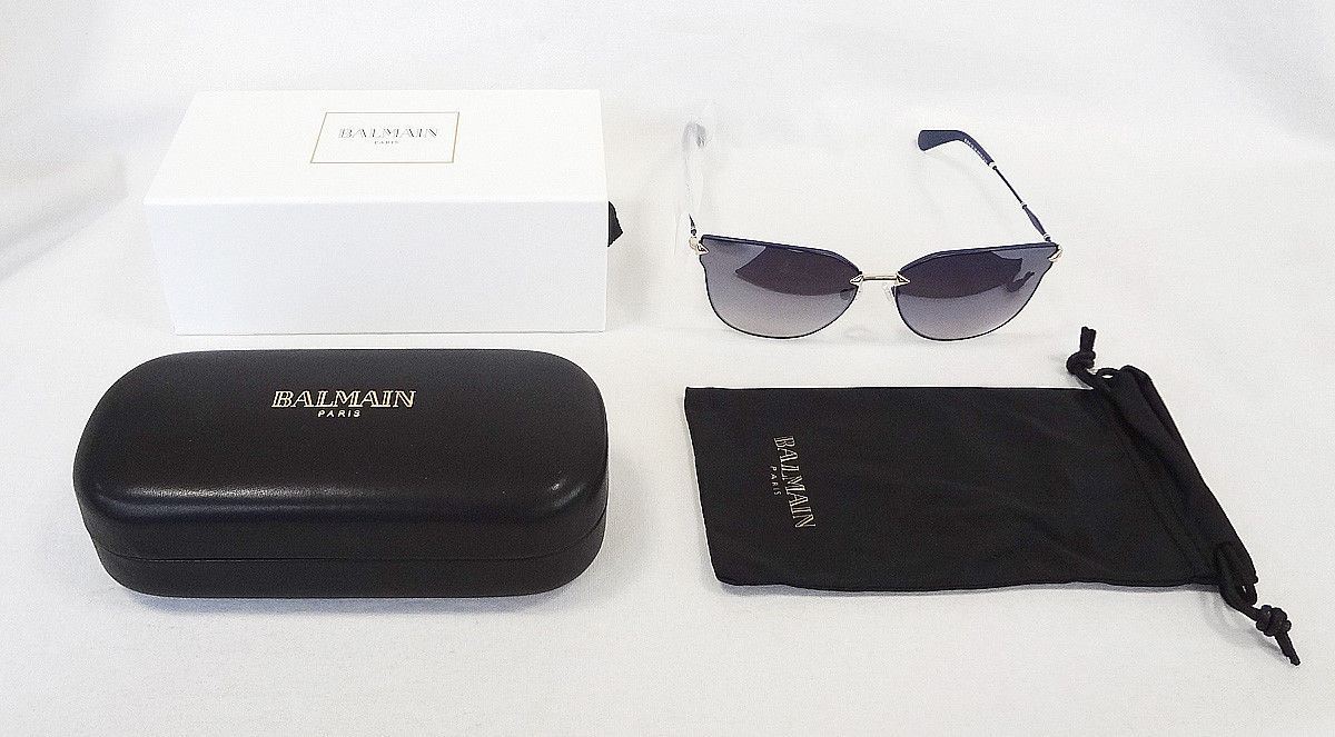 f48108f2e BALMAIN PARIS Women's Sunglasses BL2515 Navy 60-15-142 MADE IN FRANCE - New