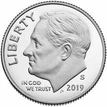 2019 S Clad PROOF ROOSEVELT DIME GEM DEEP CAMEO COIN - $1.75