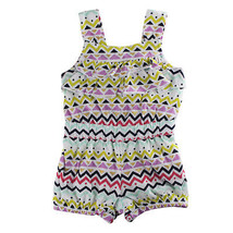 First Impressions Baby Girls Multicolor Chevron-Print Romper - $15.00