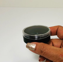 5 Beauty Containers Empty Clear Cap Black Makeup Cosmetic Jars 20 Gram M... - $9.95