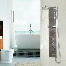 "55"" Stainless Rainfall Shower Panel w/ Massage Jets - $144.99"