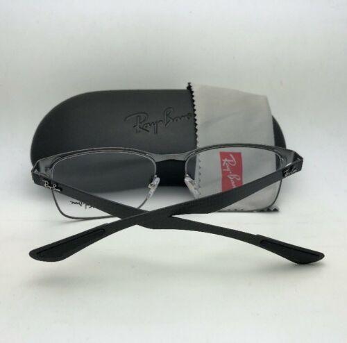Neuf Ray-ban Lunettes Tech RB 8416 2916 55-17 Noir & Gunmetal W/ Carbone Fibre