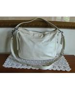 Coach Zoe F14707 Hobo Cream Ivory Leather Handbag Shoulder Bag Convertible Purse - $49.99