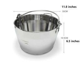 Kichenart Stainless Steel Induction Jam Pot Bucket Multipot Basket 9L (Lid) image 9