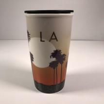 Starbucks 2015 LA California Sunset Palms Ceramic Travel Mug W/O Orignia... - $70.11