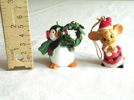 2003 Hallmark Daughter Ornament Penguin Wreath Christmas Bonus Santa Hat... - $9.99