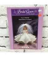 "Vintage 1986 Fiber Craft #FCM144 Bridal Gown To Crochet For 13"" Bed Doll - $9.89"