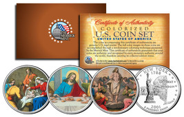 JESUS Nativity - Last Supper - Resurrection Colorized State Quarters 3-C... - $10.84