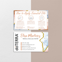 Custom Doterra Business Card Watercolor Doterra Business Card Doterra Ca... - $9.99