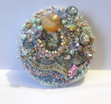 """Handmade Brooch """"Desire"""" Pin Jewelry Lace Accessory Decoration - $69.00"""