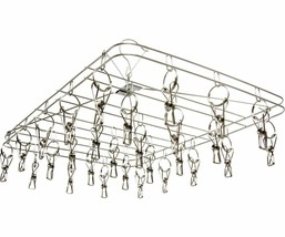 Stack!t 28 Clip Stainless Steel Construction Drying Rack Hangs Plants Ve... - $38.89
