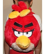 """ANGRY BIRDS RED BIRD PLUSH BACKPACK SOFT ROUND DOLL BACK PACK ROVIO 12"""" - $14.99"""