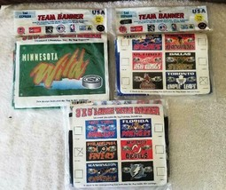 NHLTeam Banners / Flags 3' x 5,  Philad Flyers, & Minnesota Wild - New / Sealed - $12.85+