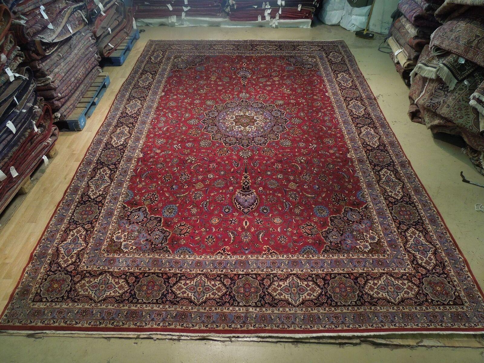 11x17 Red Traditional Handmade Fine Quality Sheik Safi Najaf Persian Rug image 4