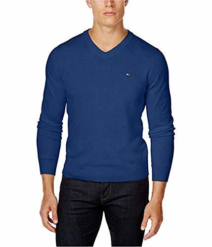Tommy Hilfiger Mens Signature Pullover Sweater, Blue (XL)