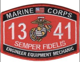 "4.5"" MARINE CORPS MOS 1341 ENGINEER EQUIPMENT MECHANIC EGA EMBROIDERED P... - $16.24"