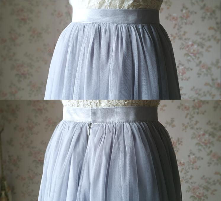 Gray tulle skirt bridesmaid skirt 08