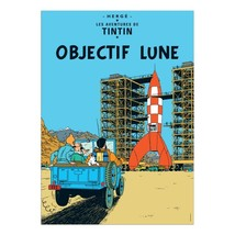 Destination Moon Tintin poster
