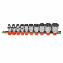 Greatneck 28614 10 Piece 3/8 Drive Spline Socket Set - Metric And Sae - $24.92 CAD