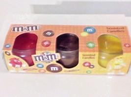 M&M's Scented Candle Gift Set Of 3 Chocolate Lemon Apple Cinnamon - $8.42