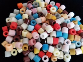 108+ Czech Glass MIXED COLORS Pony 6 mm BULK BEAD LOT Crow Spacers Jewel... - $11.99