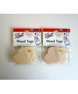 2 Packs Ball Wood Mason Canning Jar Gift Tags -8 Heart & 8 Star Shaped Tags - $8.99