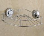 Fan-shaped Dual Suction Cups Metal Shower Storage Basket Holder