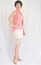 Crochet Lace Pencil Skirt, Lace Midi Skirt, Cream Lace Skirt, Soie Blu, Womens image 3