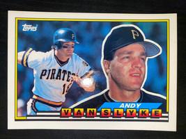 1989 Topps Big Pittsburgh Pirates Baseball Card #255 Andy Van Slyke Free... - $2.57
