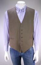 DION SCOTT Custom Made for FRANK THOMAS Black/Brown Wool Suit Vest~ Large - $66.50