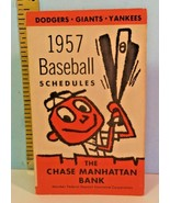 1957 Baseball Schedules: New York Yankees & Giants, Brooklyn Dodgers Chase Bank - £68.37 GBP