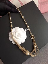 100% AUTHENTIC CHANEL CC LOGO MULTI CHAIN PEARL LONG NECKLACE GOLD LIMITED EDITI image 5