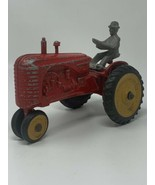 Massey Harris 44 Tractor 1/16 Vintage Cast Aluminum King With Driver 19-... - $85.45