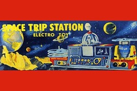 Space Trip Station Electro Toy - Art Print - $19.99+