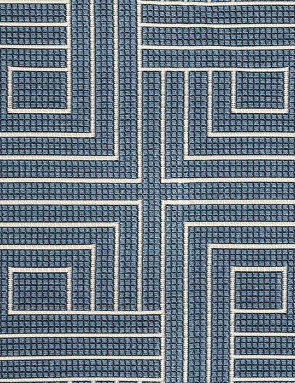 14 yds Pollack Upholstery Fabric Carolina Blue Knot Tonight 2388/03 HE-c14