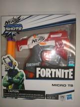 Nerf Microshots Fortnite Micro Ts 2-Soft Darts Blaster Toy Hand Gun Hasbro New - $8.79
