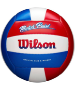 Wilson Match Point Volleyball Red White Blue - £12.12 GBP