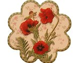 Set of 4 Flower Shapes, Villatic Ceramic Cup Coaster Tray Tea Cup Mat Place-mat