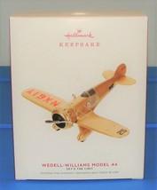 2019 Hallmark Keepsake Wedell-Williams Model 44 Airplane Christmas Ornam... - $12.90