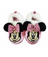 MINNIE MOUSE DISNEY Plush Rubber Bottom Slippers Toddler's Size 5/6, 7/8... - $11.99