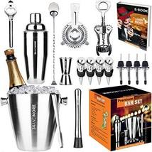 Bar Set 17-Pieces Jumbo Bartender Kit - Premium Cocktail Set Mixology Ki... - $41.37