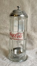 Tablecraft Coca-Cola Glass Straw Dispenser with Metal Lid  - $21.51