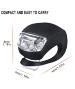 LED Silicone Bike Front or Rear Light, Black - $1.99