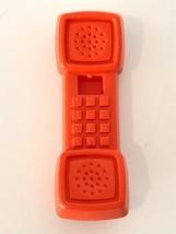 Fisher Price Vintage Pretend Play Replacement Kitchen Phone 1987 Orange ... - $14.99