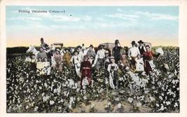 PIcking Oklahoma Cotton Farming 1920s postcard - $6.93