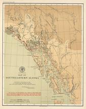 "1903 Map LARGE 23""x29"" SE Alaska US Coast Survey Geodetic Nautical Surve... - $26.24"