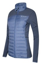 Columbia Womens W Track Lines Hybrid Jacket Blue Bell S Nwt Retail $100.00 - $79.99