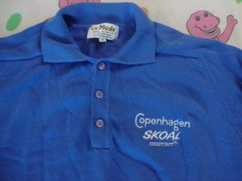Vintage COPENHAGEN SKOAL Snuff Tobacco Collar shirt Pullover Sweater Adu... - $49.44